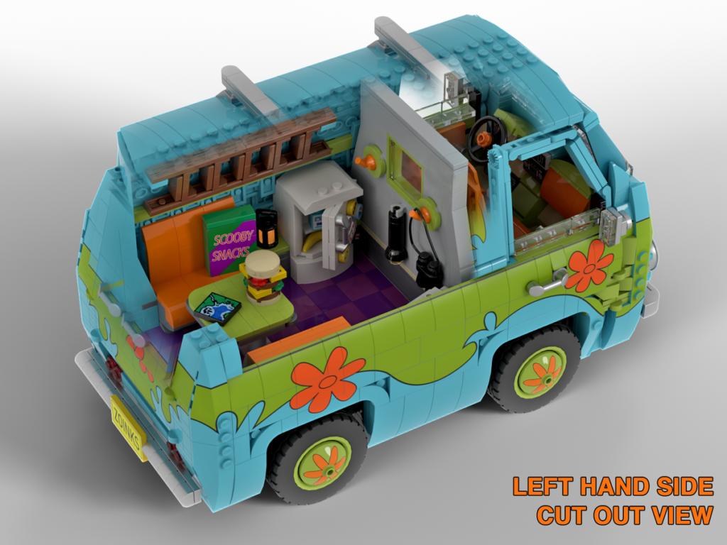 LEGO Ideas Scooby Doo Mystery Machine 6