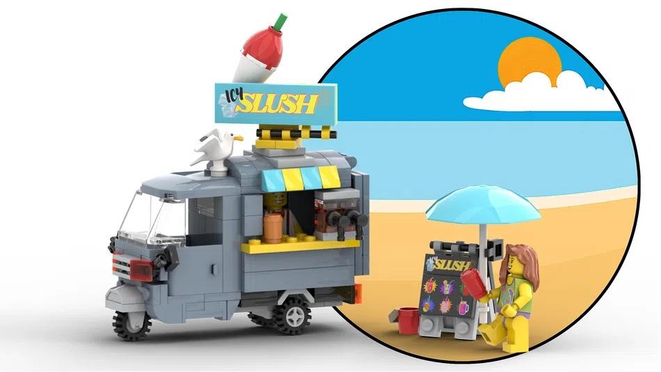 LEGO Ideas Slush Mobile Kiosk