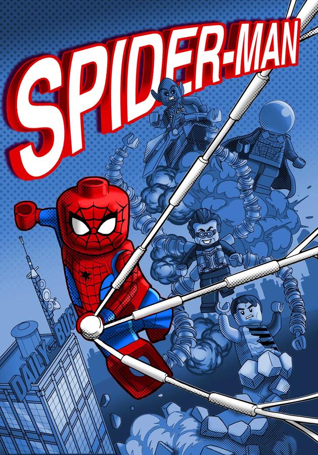 LEGO Ideas Spider Man comic book contest runner up art