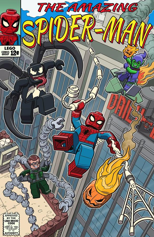 LEGO Ideas Spider Man comic book contest winner art