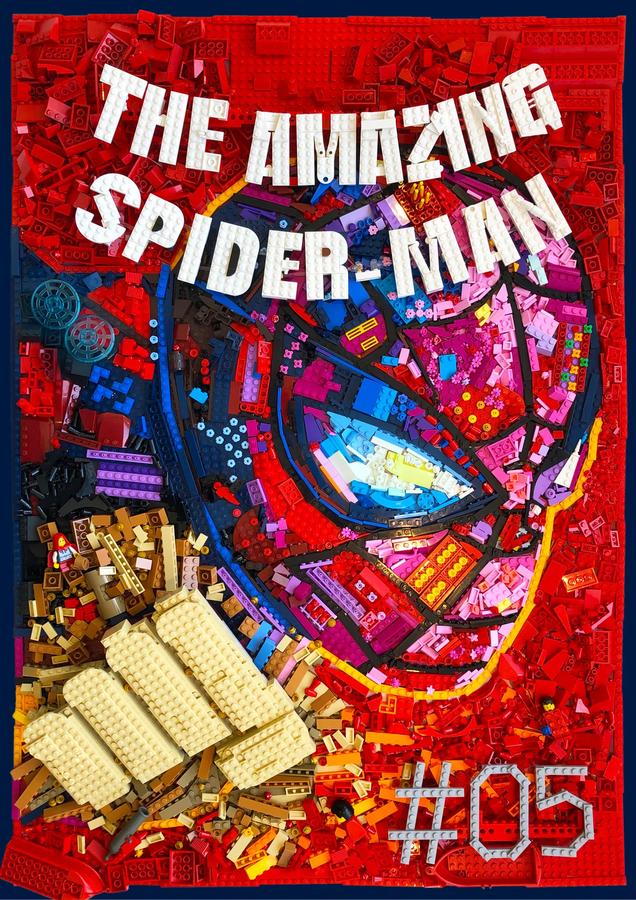 LEGO Ideas Spider Man comic book contest winner brick