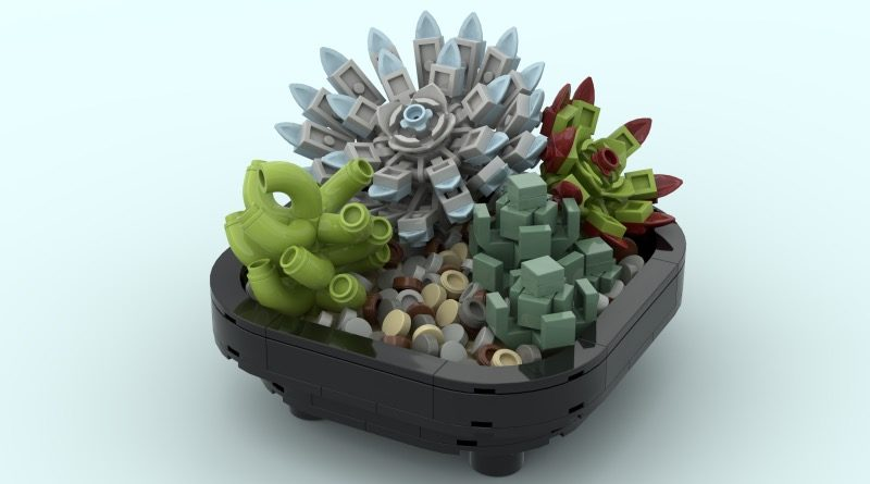 LEGO Ideas Succulent Garden featured