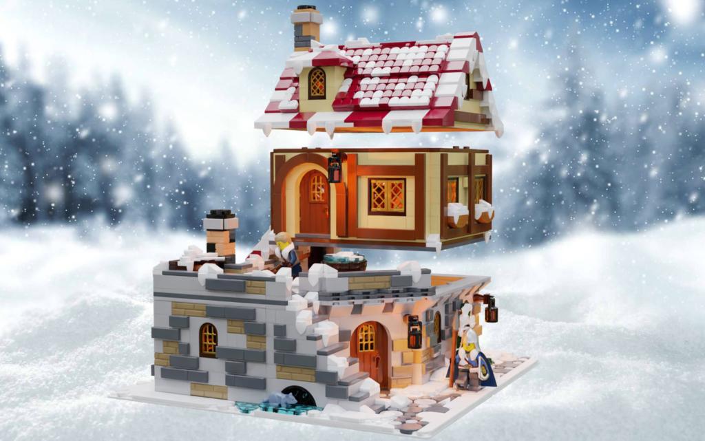 LEGO Ideas The Tavern Under the Snow 6