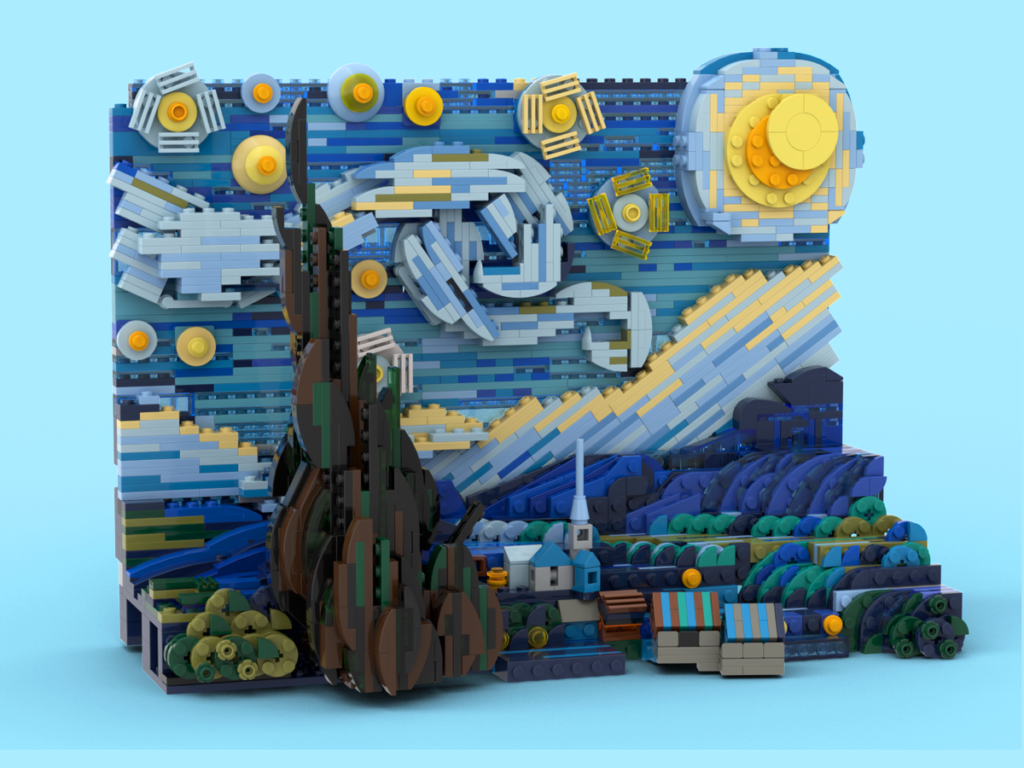 LEGO Ideas Vincent Van Gogh The Starry Night 2