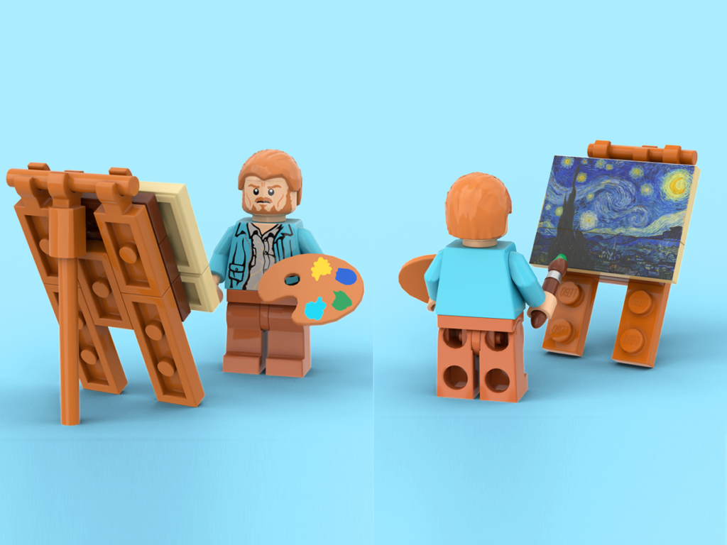 LEGO Ideas Vincent Van Gogh The Starry Night 3