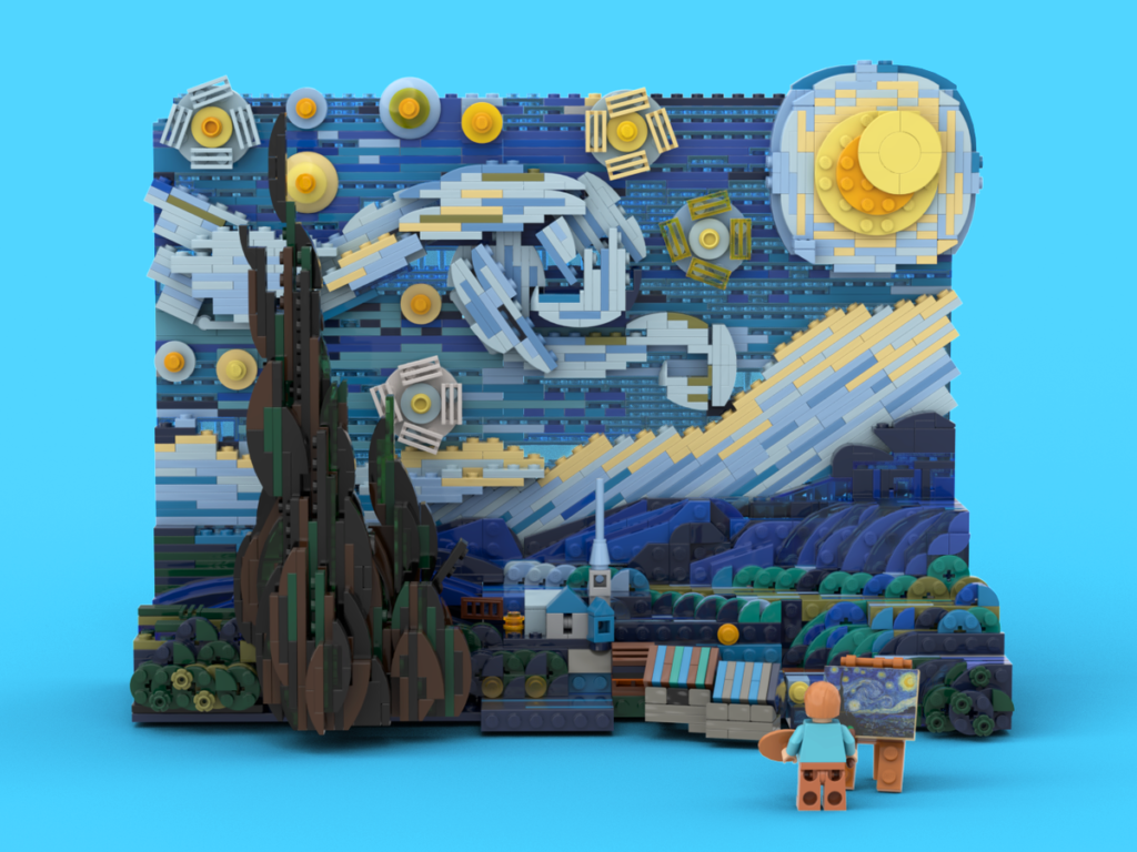 LEGO Ideas Vincent Van Gogh The Starry Night 4
