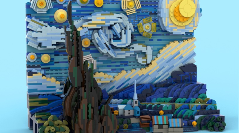 LEGO Ideas Vincent Van Gogh The Starry Night Featured 2