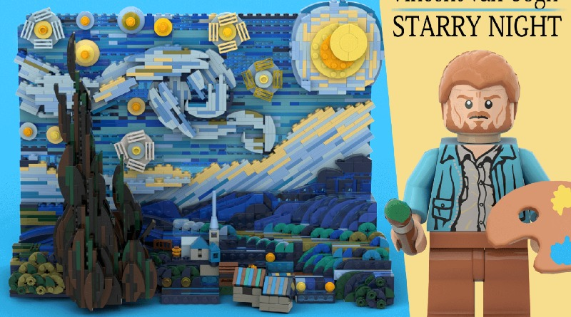 LEGO Ideas Vincent Van Gogh The Starry Night Featured