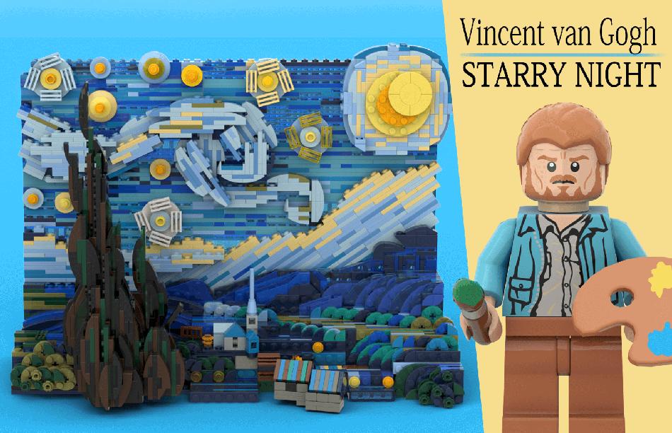 LEGO Ideas Vincent van Gogh the Starry Night