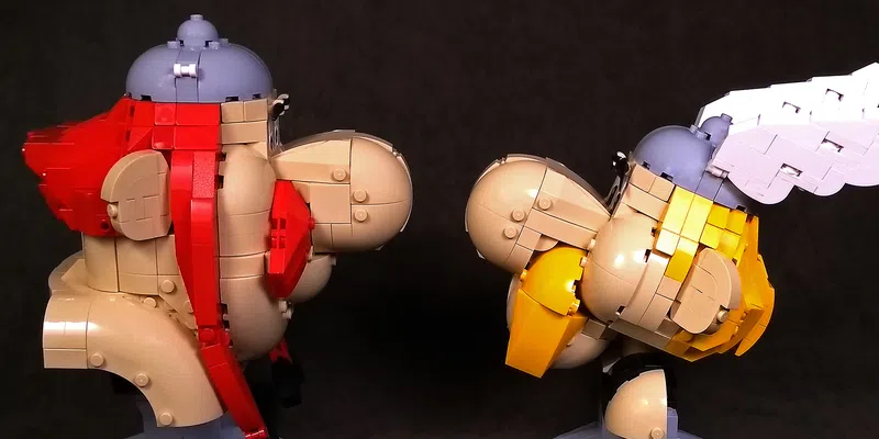 LEGO Ideas Asterix And Obelix Side Profile