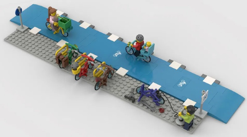 LEGO Ideas bike lanes 1