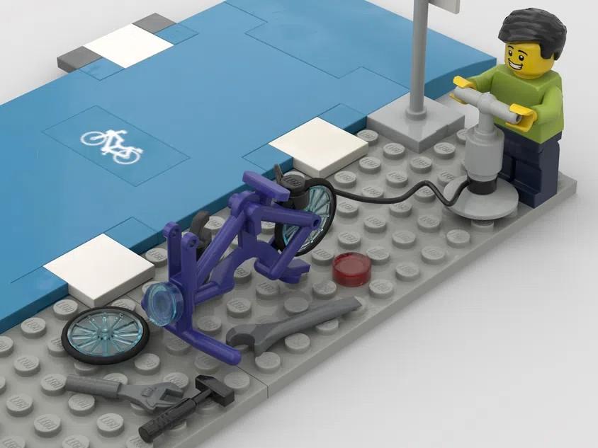 LEGO Ideas bike lanes 2