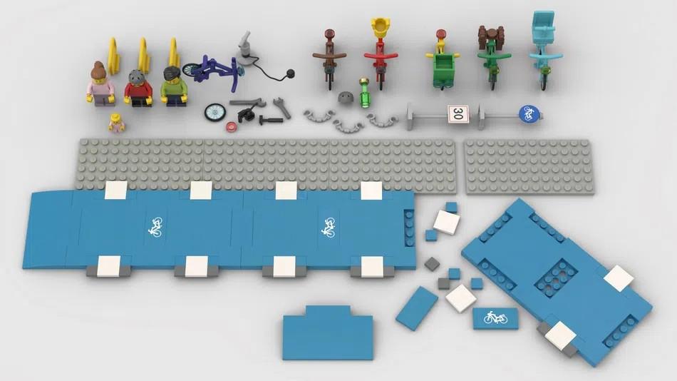 LEGO Ideas bike lanes 3