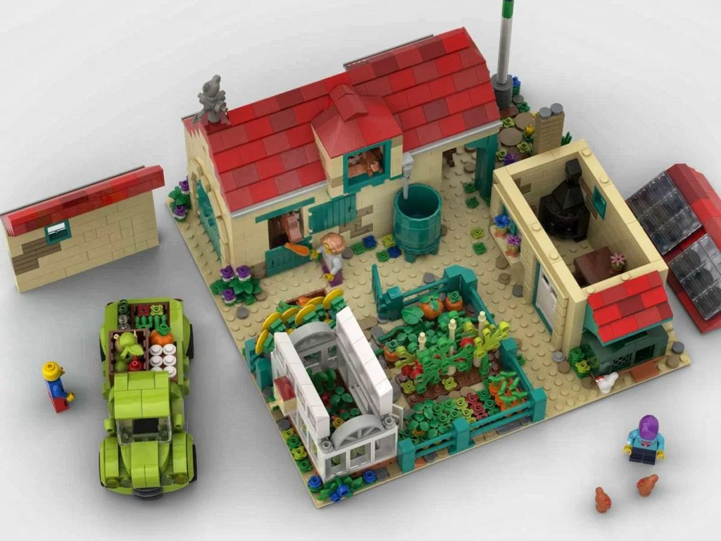 LEGO Ideas Farm Top View