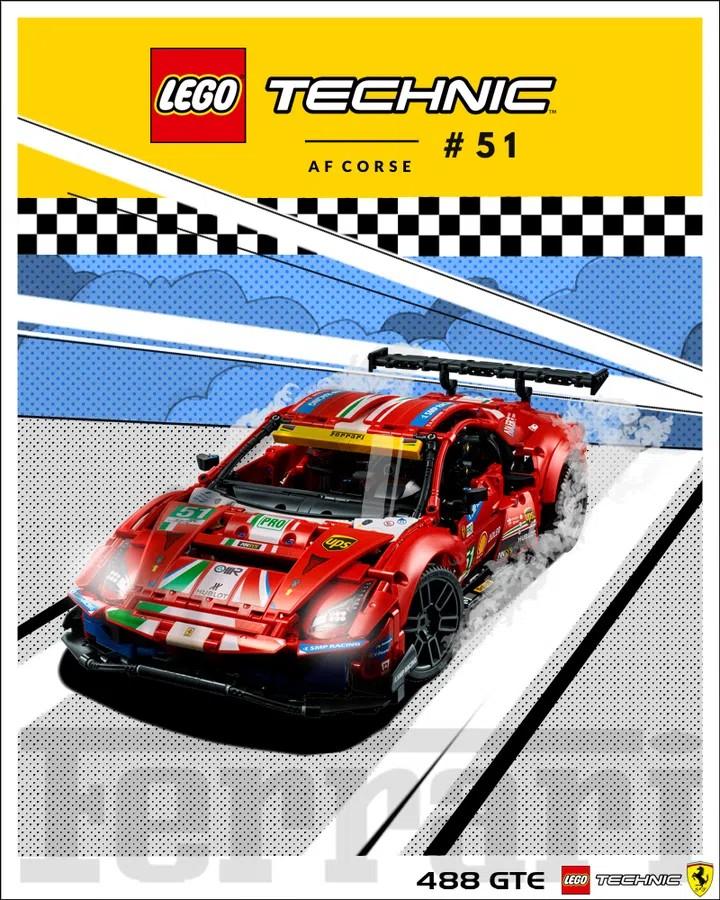 LEGO Ideas Ferrari Poster 3