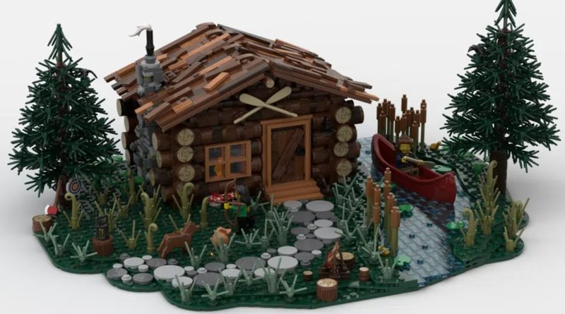 LEGO Ideas log cabin featured