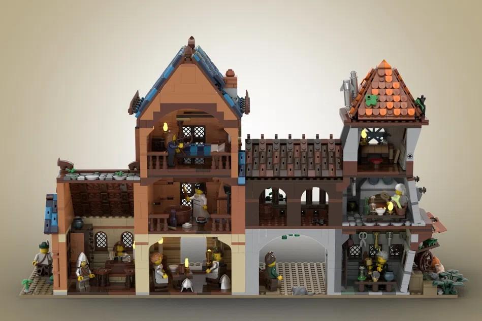 LEGO Ideas medieval tavern 1