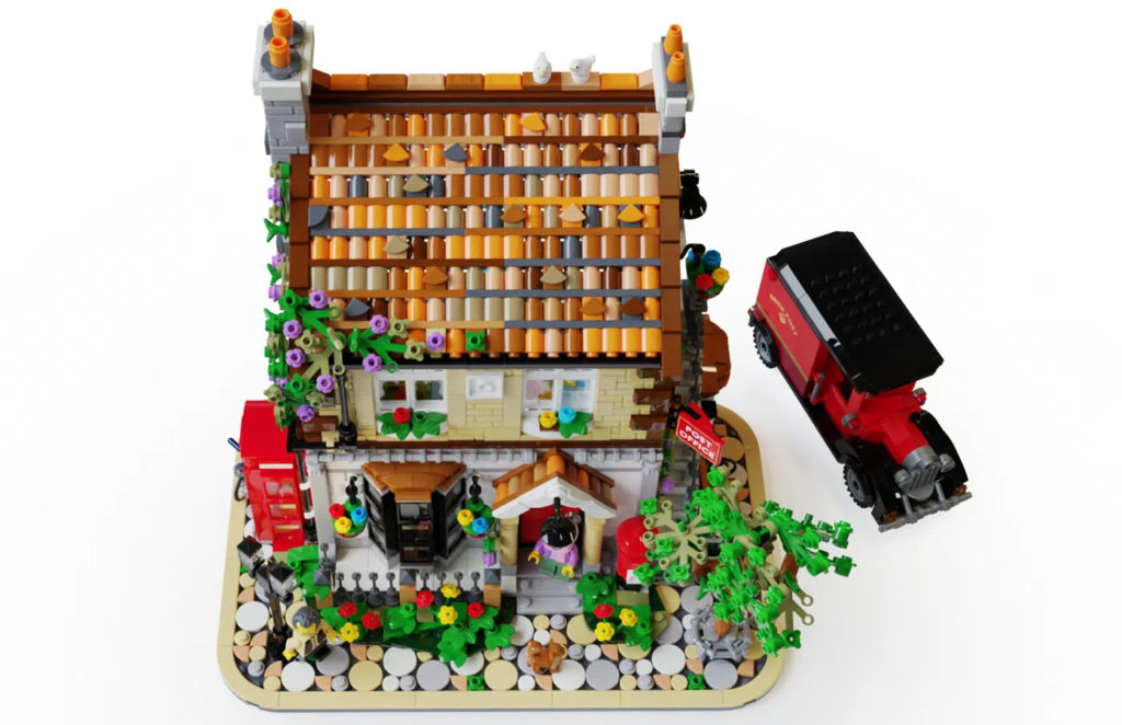 LEGO Ideas post office above