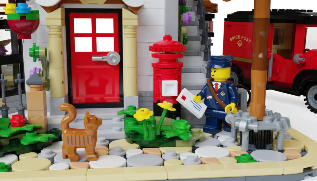 LEGO Ideas post office close up