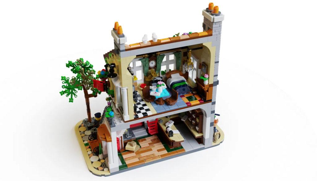 LEGO Ideas post office interior