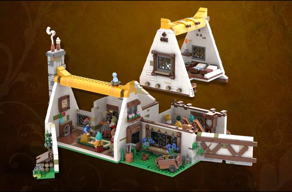 LEGO Ideas snow white interior