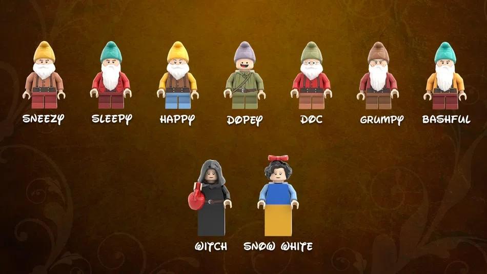 LEGO Ideas snow white minifigures