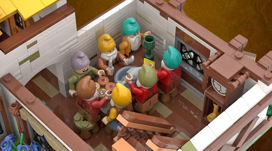 LEGO Ideas snow white seven dwarves