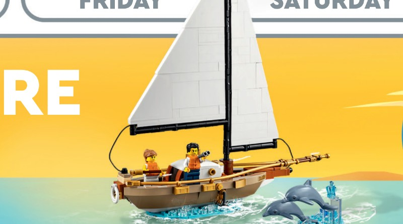 LEGO Ideas Store Calendar 40487 Sailboat Adventure Featured