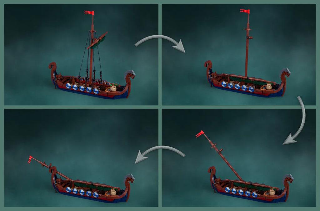 LEGO Ideas Viking Longship Mast