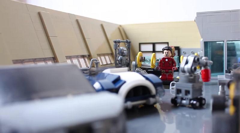 LEGO Iron Man garage featured