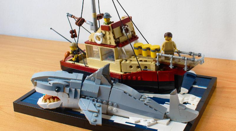 LEGO Jaws Diorama 800x445