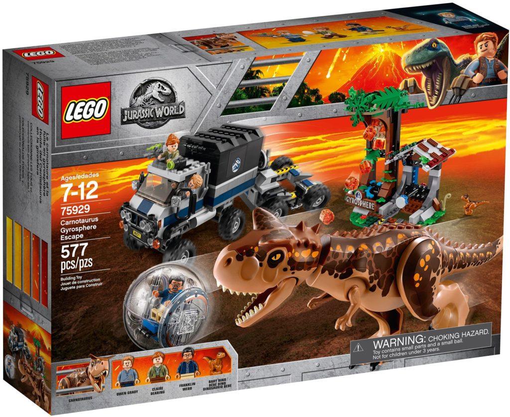 LEGO Jurassic World 75929 Carnotaurus Gyrosphere Escape Box 1