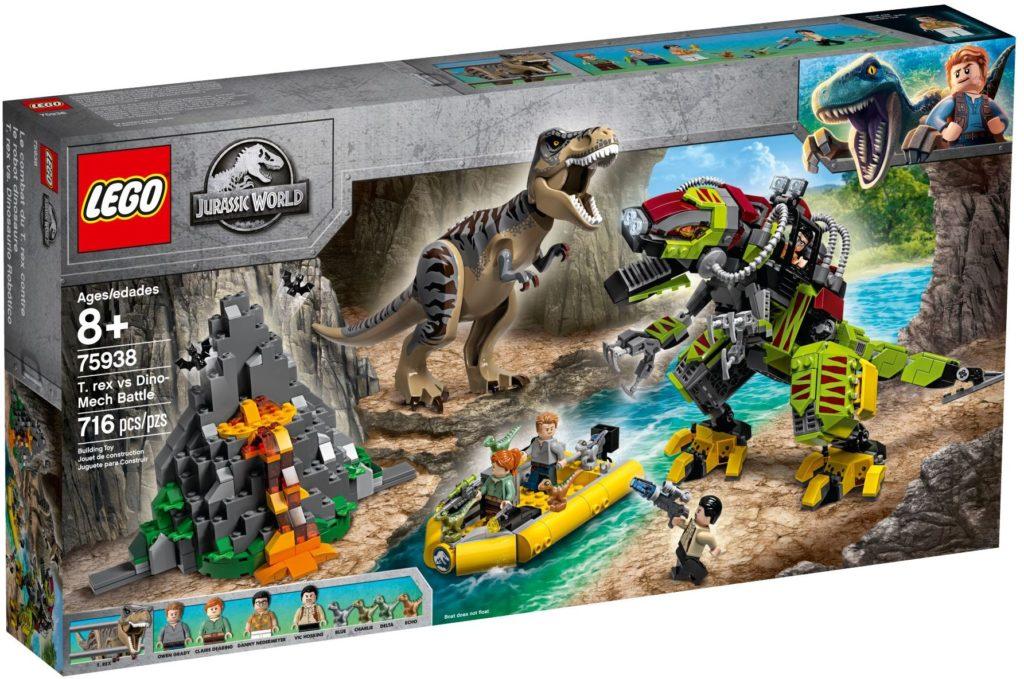 LEGO Jurassic World 75938 T. Rex Vs Dino Mech Battle Box 1