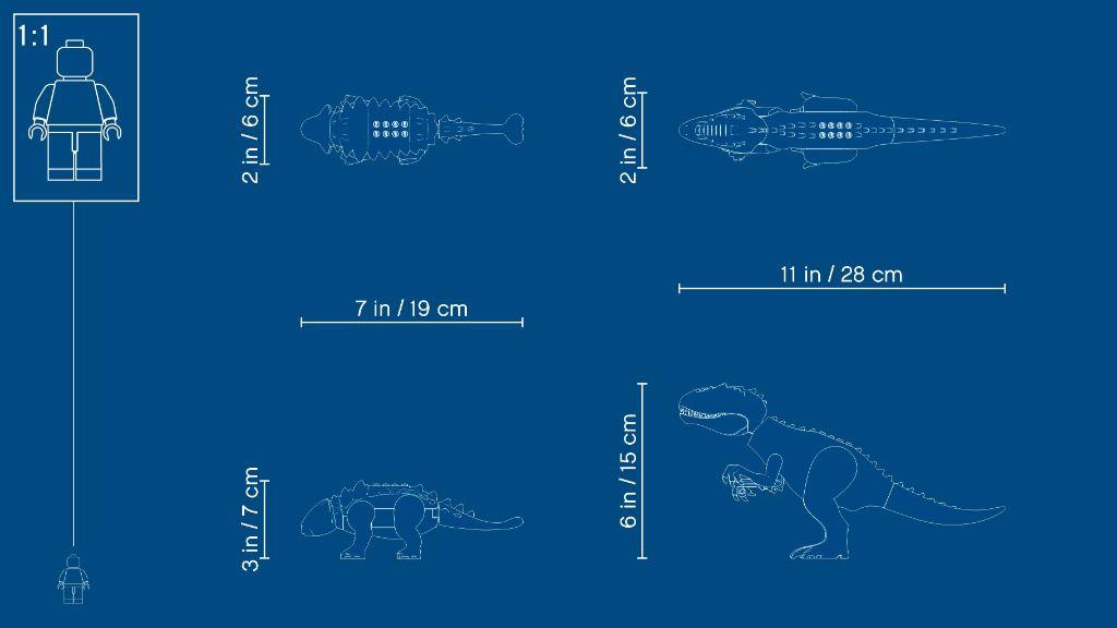 LEGO Jurassic World 75941 Indominous Rex Vs Ankylosaurus 11