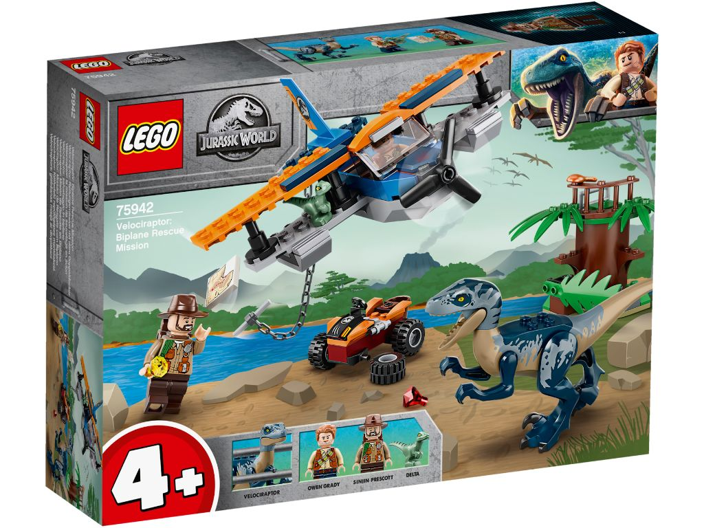 LEGO Jurassic World 75942 Velociraptor Biplane Rescue Mission 1