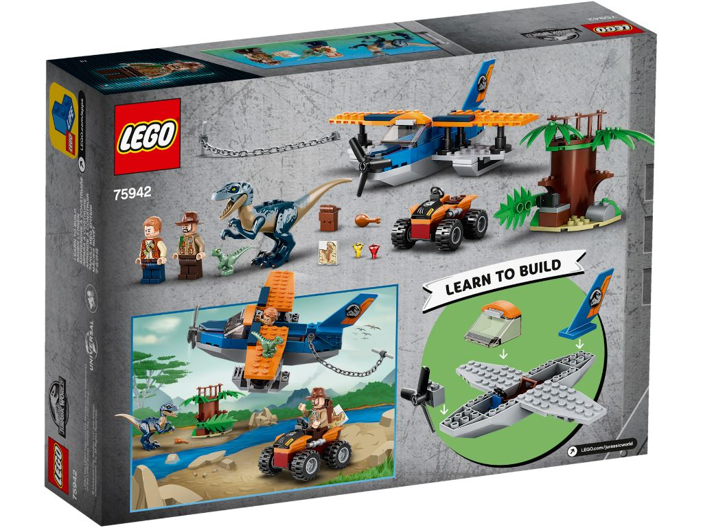LEGO Jurassic World 75942 Velociraptor Biplane Rescue Mission 2