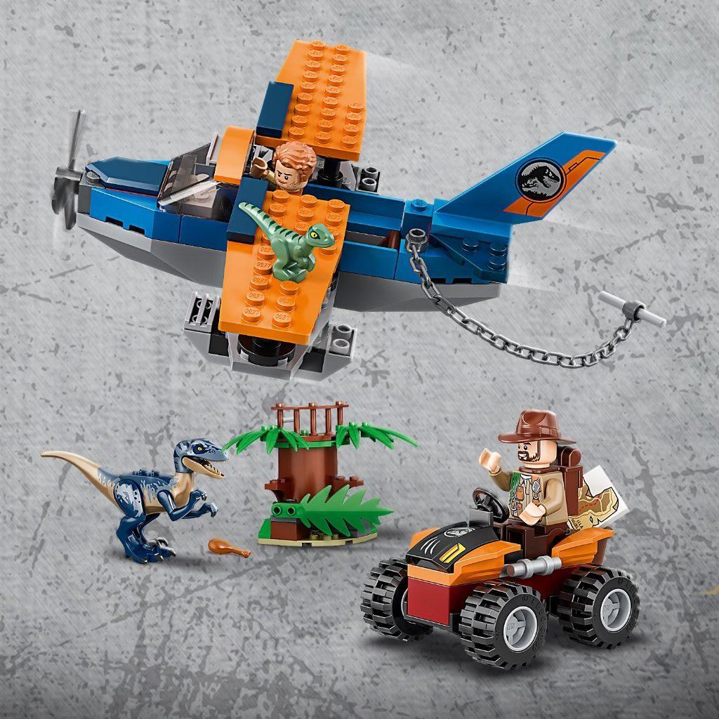LEGO Jurassic World 75942 Velociraptor Biplane Rescue Mission 9 1024x1024