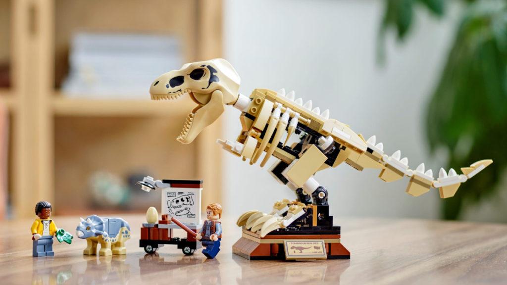LEGO Jurassic World 76940 T. rex Dinosaur Fossil Exhibition lifestyle 1 resized featured