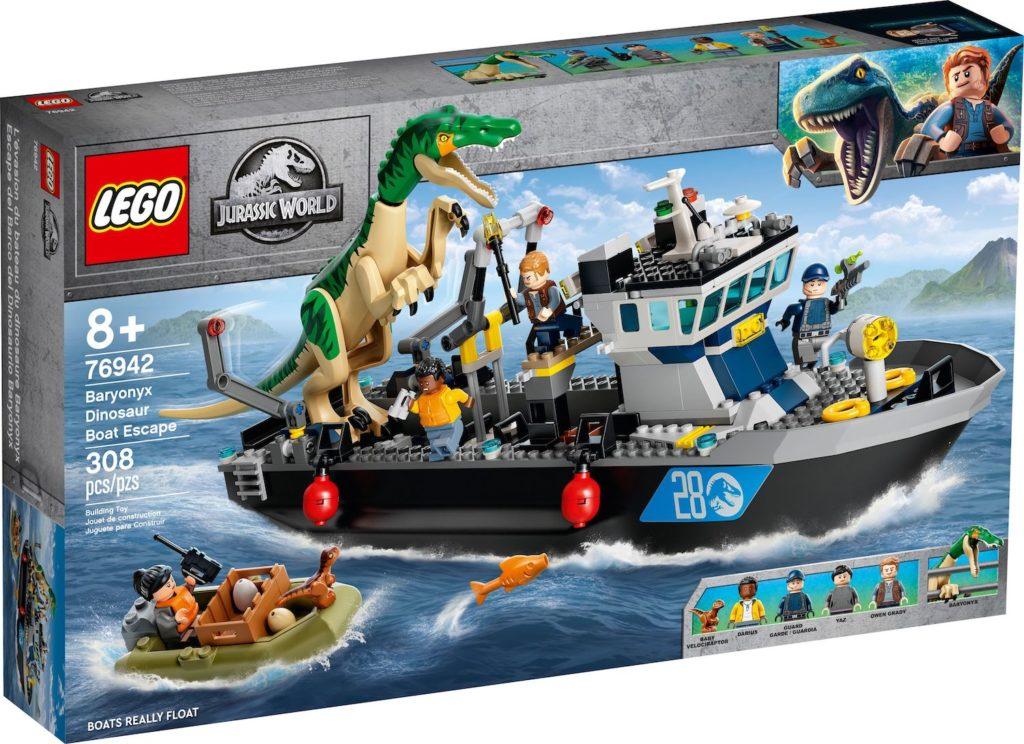 LEGO Jurassic World 76942 Baryonyx Dinosaur Boat Escape 1