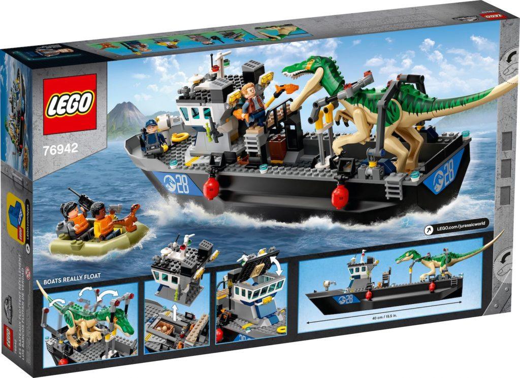 LEGO Jurassic World 76942 Baryonyx Dinosaur Boat Escape 2