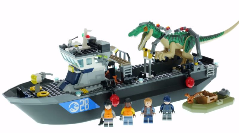 LEGO Jurassic World 76942 Baryonyx Dinosaur Boat Escape first look featured