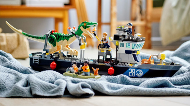LEGO Jurassic World 76942 Baryonyx Dinosaur Boat Escape resized lifestyle 1 featured