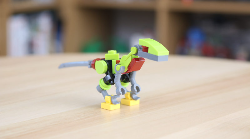 LEGO Jurassic World Robo Raptor build feature title