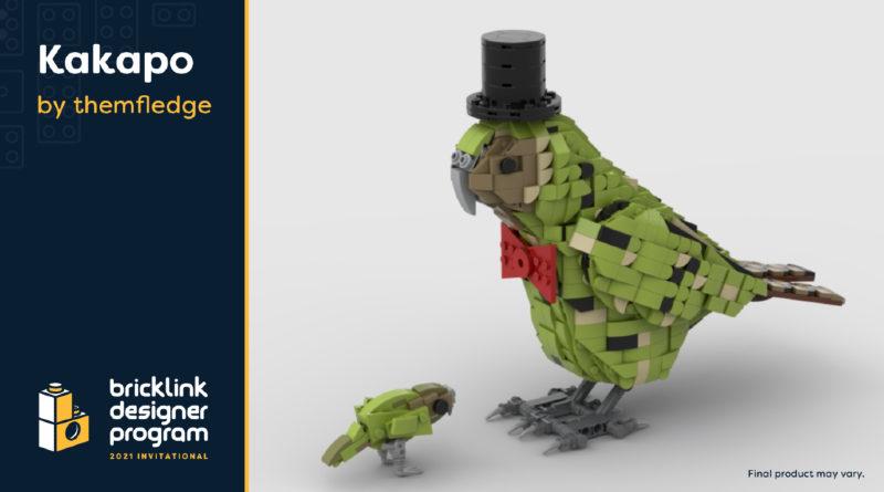 LEGO Kakapo BrickLink Designer program featured