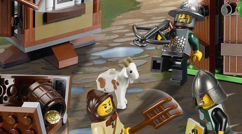 LEGO Kingdoms 7189 Mill Village Raid Goat Featured