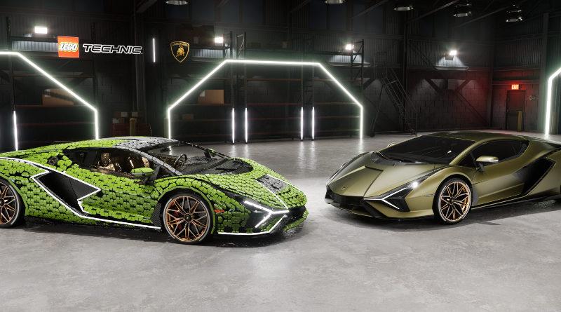 LEGO Lamborghini Sian comparison shot featured