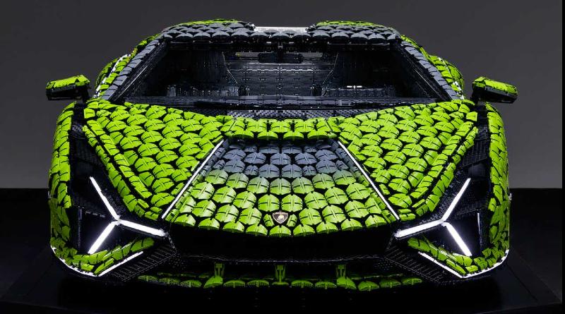 LEGO Lamborghini Sian Front View Featured