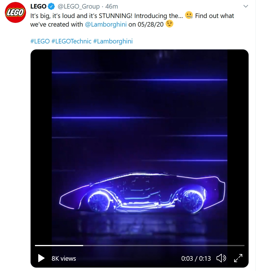 LEGO Lamborghini Tease Teet