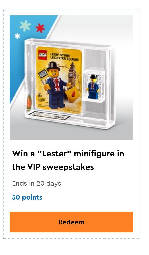 LEGO Lester Minifigure VIP