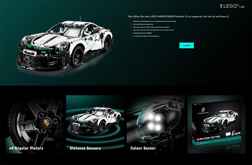 LEGO MINDSTORMS 515153 Porsche 1024
